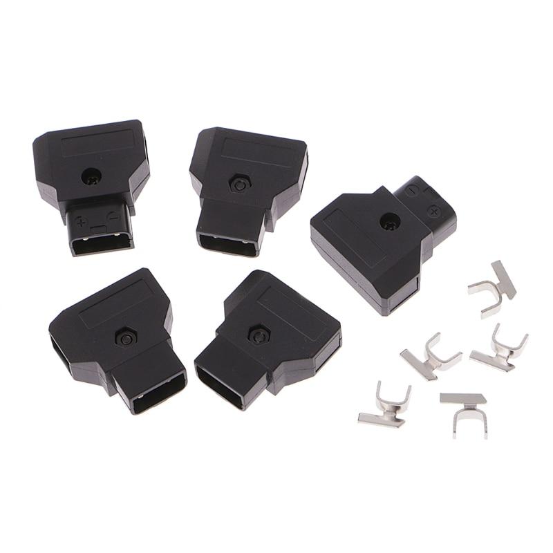 5pcs ABS DTAP D-Tap Plug DIY For DSLR Rig Power Cable V-mount Anton C Battery Male Plug