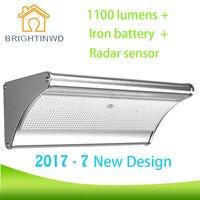 2017 7 New Design IP 65 Waterproof Outdoor Landscape Lighting 1100 Lumens Radar Body Induction Iron