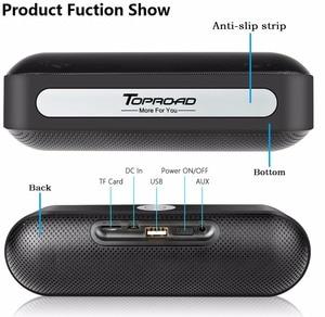 Image 5 - TOPROAD Bộ Loa Di Động Bluetooth Không Dây Âm Thanh Stereo Boombox Loa Có Mic Hỗ Trợ TF AUX FM Radio USB Altavoz Enceinte