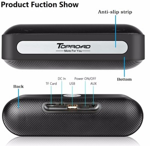 Image 5 - TOPROAD Portable Bluetooth Speaker Wireless Stereo Sound Boombox Speakers with Mic Support TF AUX FM Radio USB Altavoz enceinte