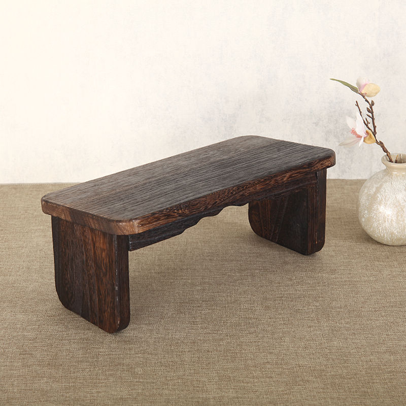 Folding Legs Portable Meditation Kneeling Bench Solid Wood Ergonomic Seat Zen Bench Stool For Meditations, Yoga, Prayer, Seiza