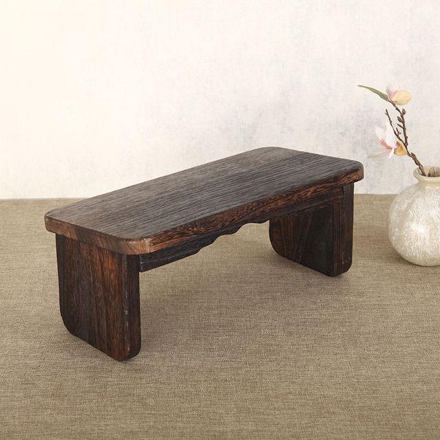 Patas plegables meditación portátil rodillas banco de madera maciza ...