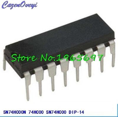 10pcs/lot SN74HC00N SN74HC00 74HC00 DIP-14 New Original In Stock