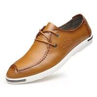 2017 Spring Xia Xinkuan Male Shoe Leisure Time Single Shoe Fashion Genuine Korean Ventilation Male Man