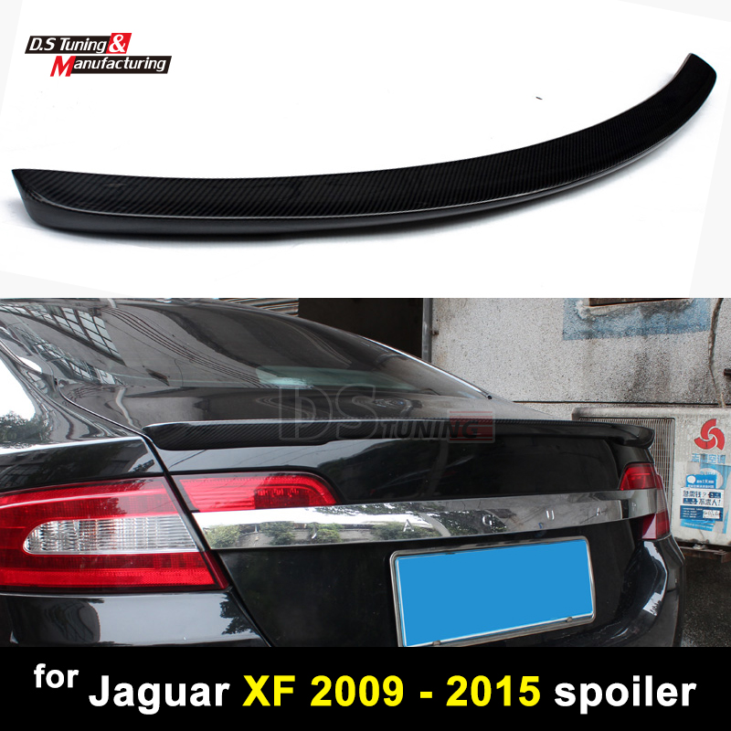 Carbon Fiber Spoiler Trunk Boot Wing Rear bumper Spoiler for Jaguar XF 2009 - 2015 ble bluetooth smart accelerometer ibeacon beacon sensor
