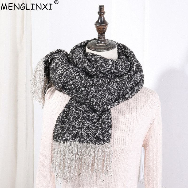2019 New Design Soft Warm Winter   Scarf   Shawl Brand Women   Scarves     Wraps   For Ladies Tassels Kerchief