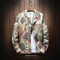 2019 Sping New Japanese Embroidery Men Jacket Coat Man Hip Hop Streetwear Men Jacket Coat Bomber Jacket Men Clothes