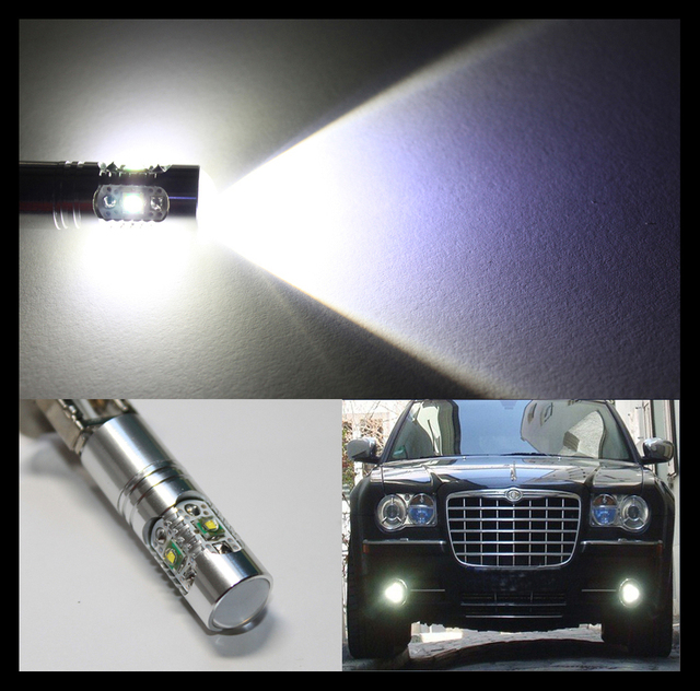 2 pieces / lot H3 25W High Power chip LED Xenon White Fog Lights Daytime Running Bulbs