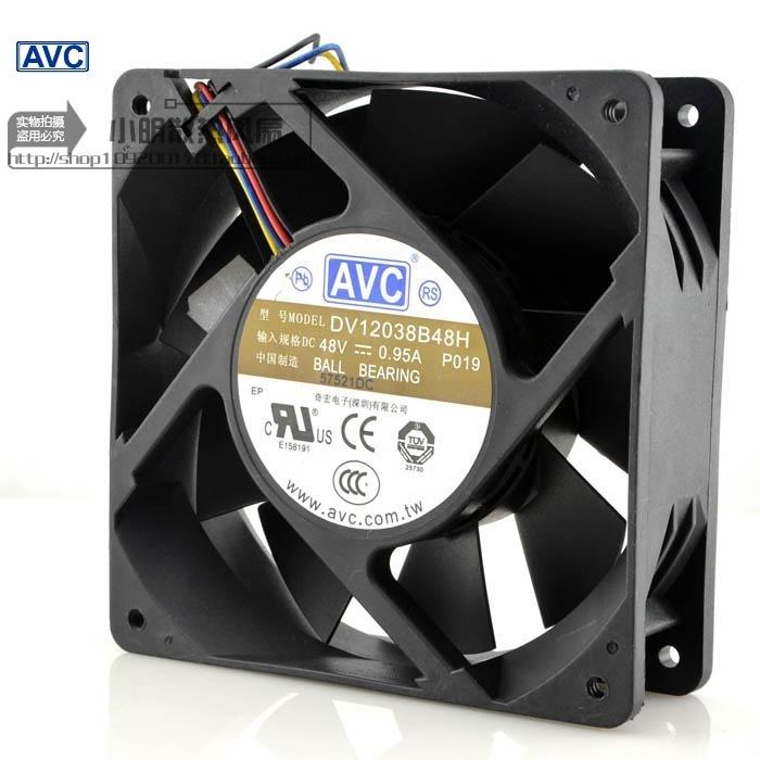 AVC New 48V 0.95A DV12038B48H 12CM 12038 industrial inverter cooling fan  120*120*38mm