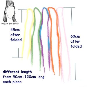 Image 3 - Desire for hair 1bundle 10strands 90cm 120cm long Nepal felted wool synthetic dreadlocks braids hair for kids and adult