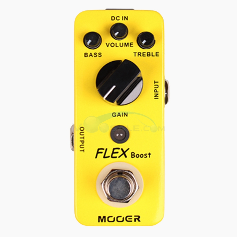 Mooer Flex Boost Mini Boost Guitar Effect Delay Pedal with True Bypass Full Metal Shell Wide Gain Range mooer fog bass fuzz pedal full metal shell true bypass guitar effect pedal