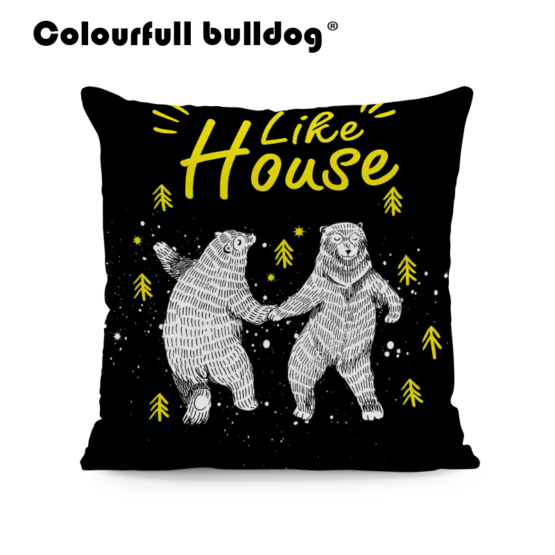 Table & Sofa Linens Fashion Black Yellow Glasses Cool Cat Decorative Pillow Covering Linen Sofa Seat Car Cushion Throw Cover Zigzag Banana Heart Buy One Give One