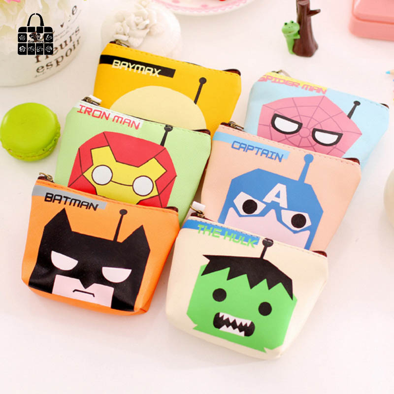 RoseDiary Creative cartoon anime hero PUleather coin purses child girl&student women change purse,lady zero wallets,coin bag coin purses creative big eyes pu leather coin purses child girl women change purse lady zero wallets coin bag free shipping