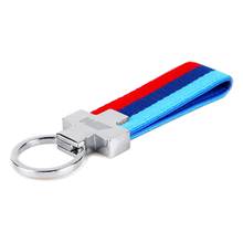 M Tech M Sport Leather Belt Car Key Ring Keychain for BMW E46 E39 E60 F30 E90 F10 F30 E36 X5 E53 E30 E34 X1 X3 M3 M5 Key Chain