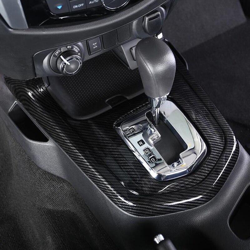 ABS Chrome accessories For Nissan Navara NP300 2017 2018 2019 Car gear shift knob frame panel Cover Trim