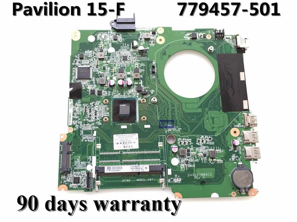 ФОТО NEW ORIGINAL 779457-501 FOR HP 15-F series laptop motherboard 779457-001 DA0U87MB6C2 Rev:C N2830 100% Tested 90Days Warranty