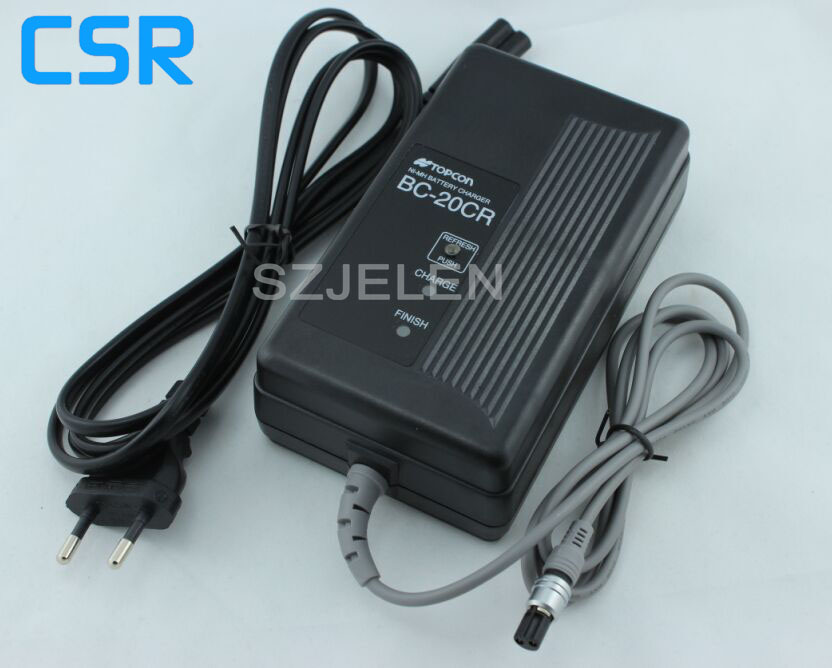 New TOPCON BC-20CR  BC20CR charger BT-24Q BT-30Q BT-32Q 2 pin charger for Topcon Total Station