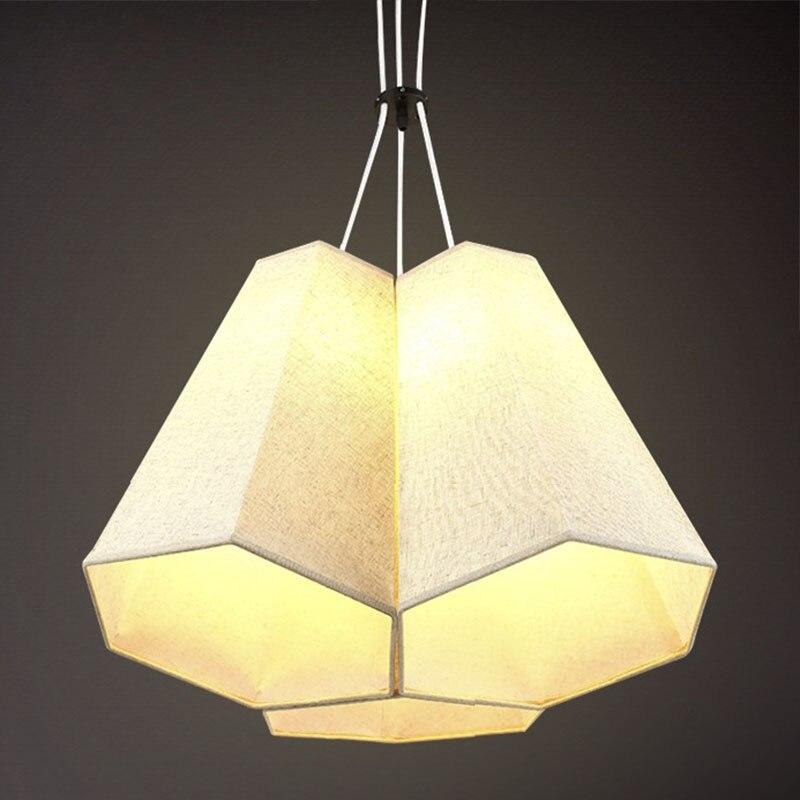 fabric pendant lamp  Nordic modern compact pendant lights heads creative personality bedroom lamp American study balcony ZA bamboo bedroom pendant lights balcony