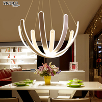 Dimmable Pendant Lights for Living Dinging Room Kitchen Remote Control Modern Light Fixtures Hanging Lamp Luminaires