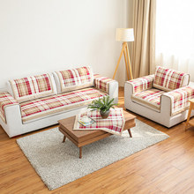 Quality american style fashion plaid winter thickening sofa cushion cover slip-resistant cloth