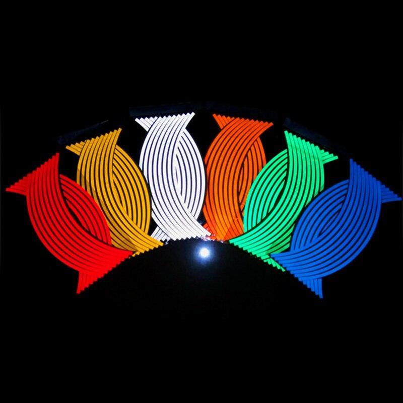 Motorcycle Styling Wheel Hub Rim Stripe Reflective Decal Stickers Safety Reflector For YAMAHA HONDA SUZUKI KTM KAWASAKI BMW new