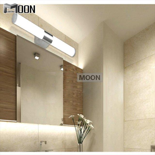 Moderno pared de luz 12 W acrílico baño iluminación LED espejo de ...