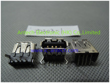 292303-1 Conn USB 2.0 Type Een RCP 4 POS Soldeer RA Thru-Hole 4 Terminal 1 Poort buis(China)