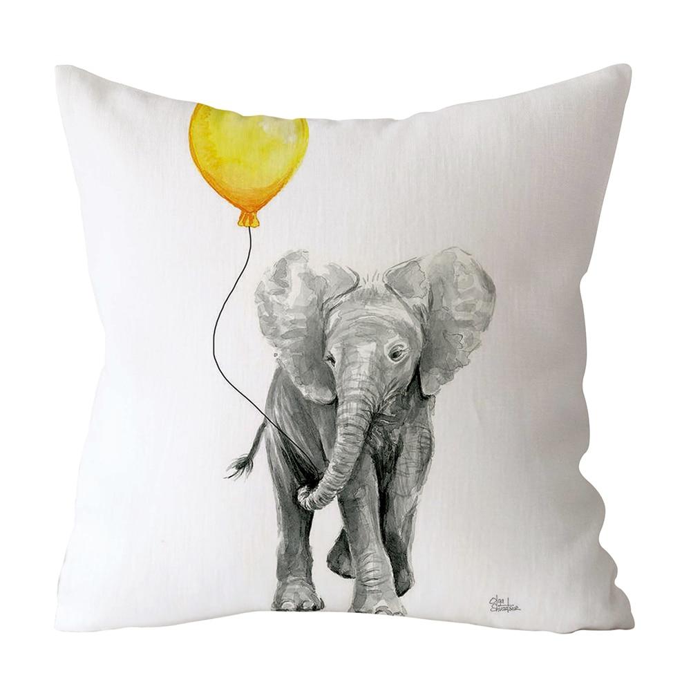 HTB10KYwXBOD3KVjSZFFq6An9pXaY Polyester Geometric Cushion Yellow Pineapple Pillow Decorative Cushion for Sofa DIY Printed Pillow Seat Chair Cushion