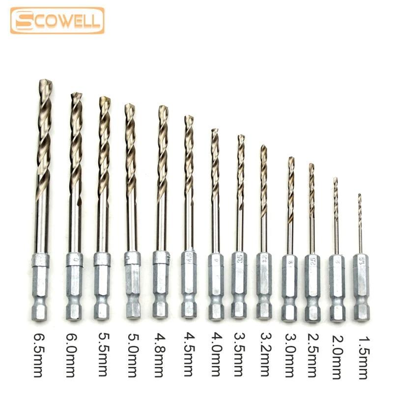 helical drill bit metal 5 piece hss drill bits ø 2,2mm