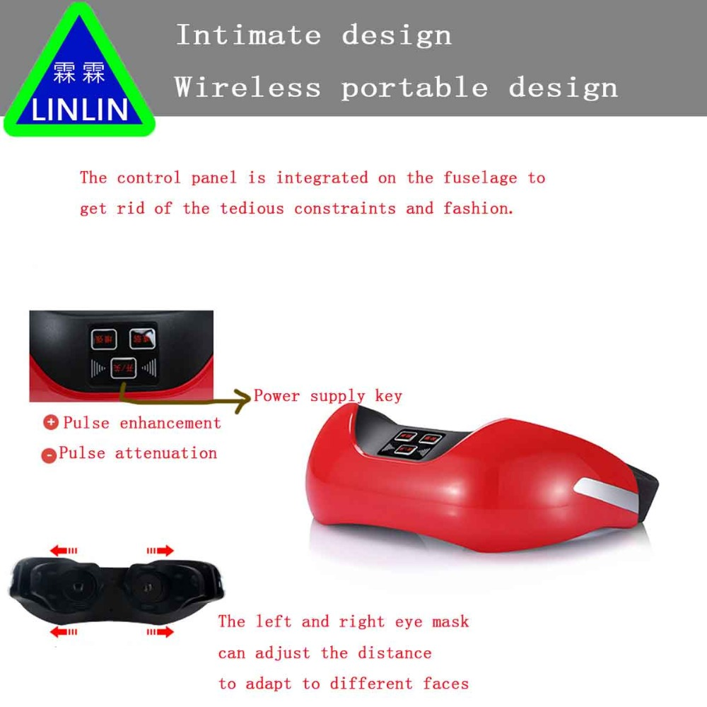 LINLIN Wireless charging eye protection instrument, 3D green light vision recovery training instrument, EMS pulse eye massager.