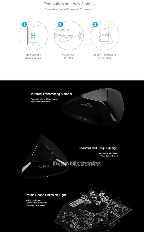 2017 Broadlink RM03 RM PRO Uniwersalny Inteligentny Pilot Smart Home Automation WiFi + IR + RF Przełącznik Poprzez IOS Android Telefon 18