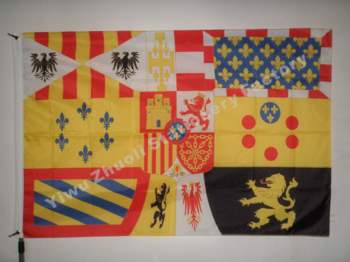 Spanska Royal 1931-1975 Flagga 150X90cm (3x5FT) 120g 100D Polyester Fri frakt Spanien National Flag