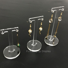 3pcs Plexiglass Earring T Stand Showcase Displays Clear Acrylic