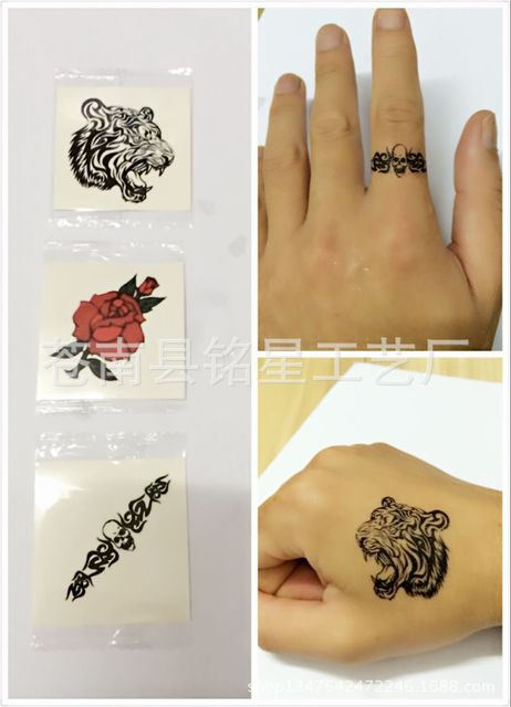 2018 special offer sale temporary tattoo 10 pcs wholesale custom waterproof disposable tattoo stickers green ink