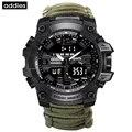 Мужские спортивные часы ADDIES  уличные часы с компасом G  военные цифровые часы  мужские водонепроницаемые кварцевые часы  relogio masculino