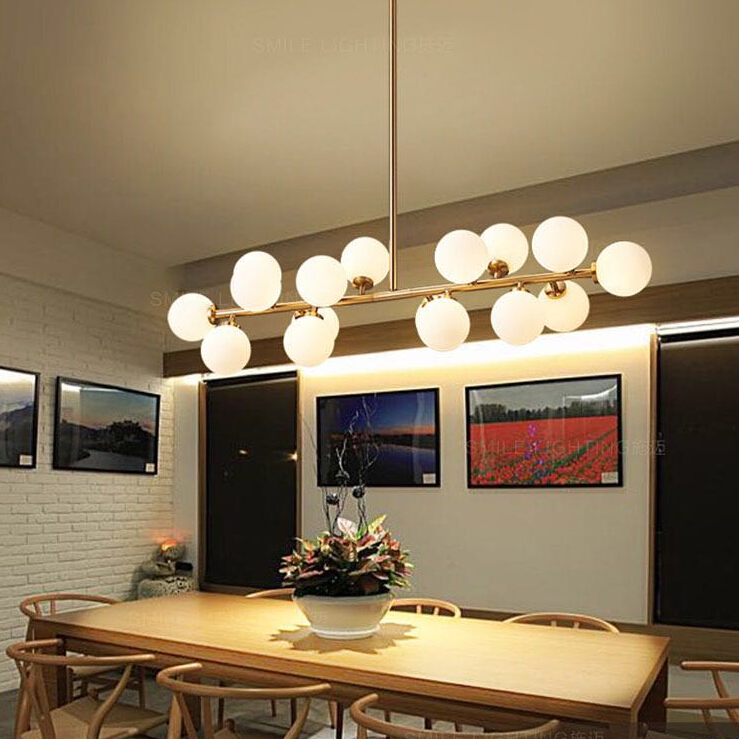 Moden Art Pendant Lights Gold/black Magic Bean G4 Interface Fixtures For Living Dining Room Shop Glass Pendant Lamp 110-240V