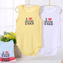 Baby Bodysuit Girl Clothes Sleeveless 100%Cotton Pyjamas