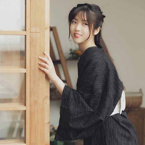 Image 3 - Truyền thống Nhật Bản bộ kimono Geisha Nhật Bản trang phục Obi Kimono haori kimono nhật bản người phụ nữ Geisha quần áo AA4410