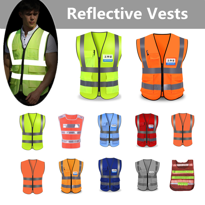 New Hot Unisex L XL XXL  Reflective Vest Workwear Provides High Visibility Day Night Running Cycle Warning Child Safety Vest