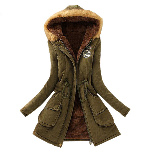 Fashion Womens Parka Outwear 2019 Herbst Winter Kapuzenjacke Mantel Casual Women Faux Fur Coat Warme Baumwolle Wadded Ladies Overcoat