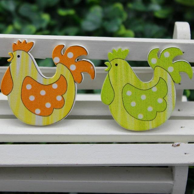 12 teilelos 2 colorchicken holz aufkleber ostern handwerk kinderzimmer dekoration - Kinderzimmer Dekoration Handwerk