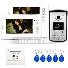 Chuangksafe NEW 7 Video Intercom Home font b Door b font Phone System 2 White Monitors