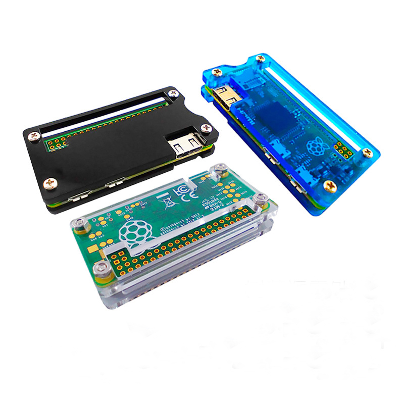 Free Shipping 5PC High Quality  Raspberry Pi Zero Case Color Option Blue , White . Black With Screws  Raspberry Pi Zero BOX