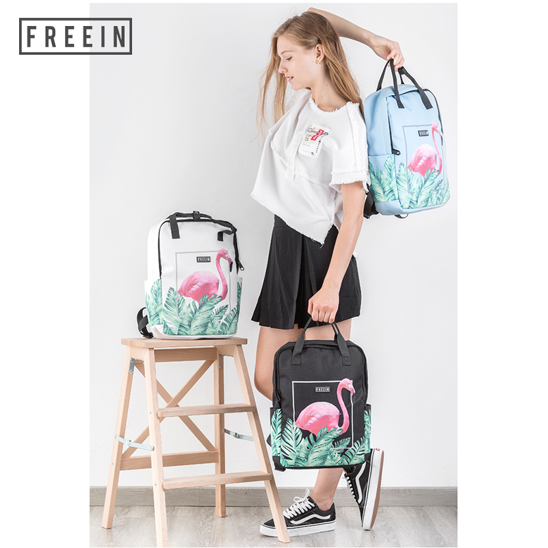 Waterproof Large Backpack Kanken for Women Bags 2018 School Back Pack Printing Female Travel College Girls Bag Bookbag Printed стоимость