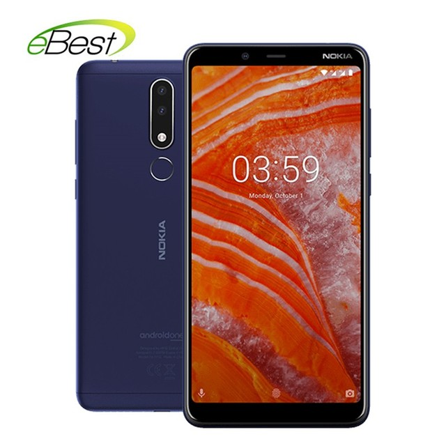 NOKIA 3.1 Plus Smartphone 6 inch IPS Helio P22 Octa-core RAM 3GB ROM 32GB Dual SIM 3500mAh 4G Lte Mobile Phone