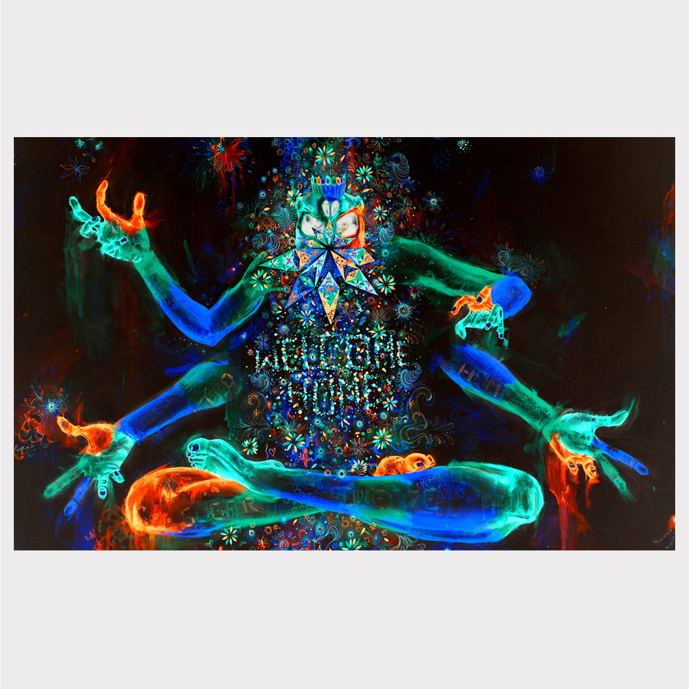 Popular Psychedelic Trippy art illusion poster, interior decoration oil painting without frame spray painting core.
