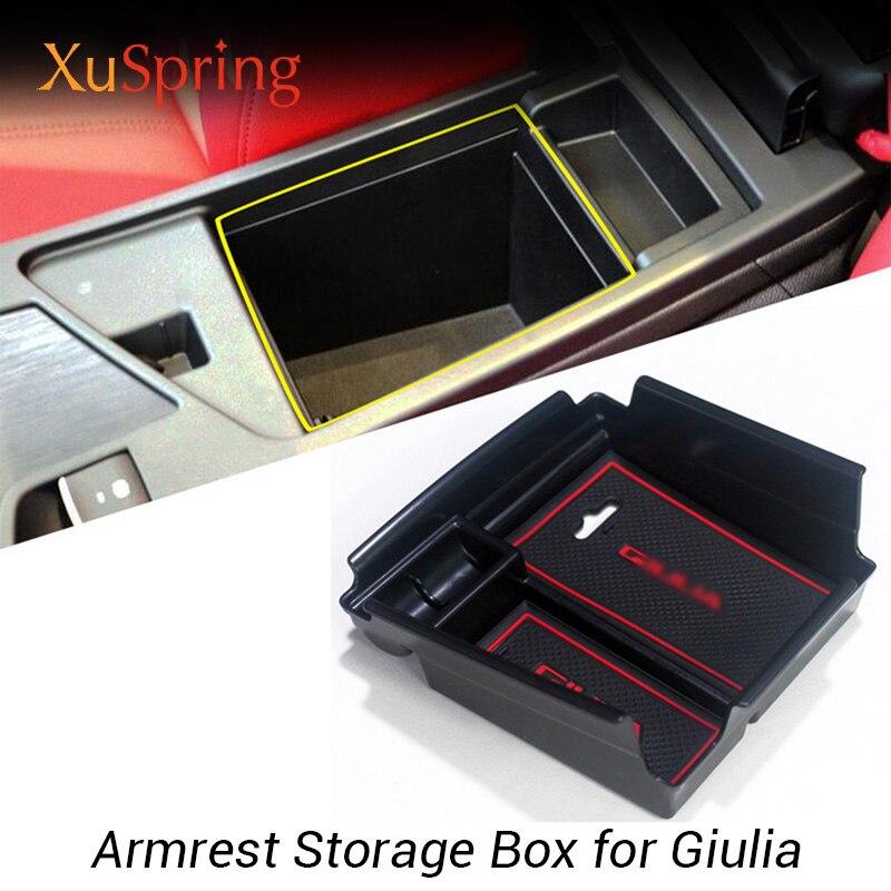 For Alfa Romeo Giulia 2017 2018 Plastic Inner Central Armrest Container Box 1pcs