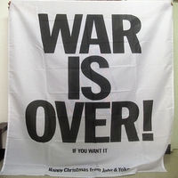 WAR IS OVER! Pop Band Sign Cloth Flag Four-Hole Hanging paintings Wall Stickers Cafe Hotel Music Studio Decoration