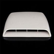 1 шт. Универсальный декоративный воздушный поток вентиляционное отверстие крышка Впускной Совок турбо капот серебро/белый/черный
