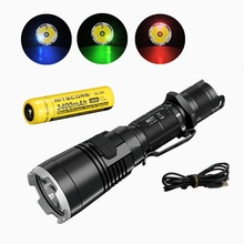 Nitecore MH27 LED Flashlight CREE XP-L HI V3 LED 1000LM + RGB LED Torch Flashlight with nitecore NL189 3400mah Battery